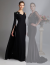 Tiara - Elegant Black Fitted Evening Gown